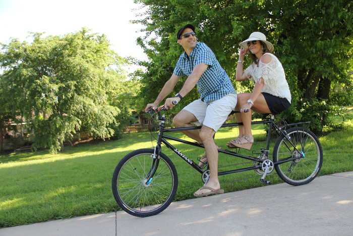 tandem bicycle photo shoot