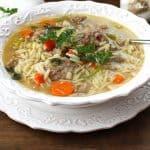 Italian Wedding Soup -- a hearty Italian-American soup with mini meatballs, veggies, and parmesan cheese! | suebeehomemaker.com