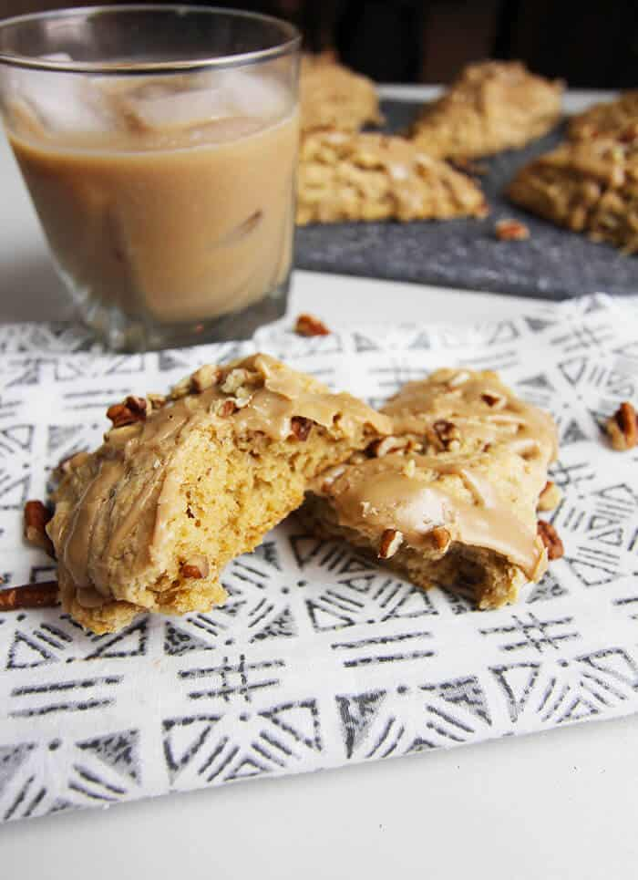 Maple Oat Pecan Scones -- a soft, buttery, crumbly scone with a delicious maple nut flavor, perfect for any time of day! | suebeehomemaker.com