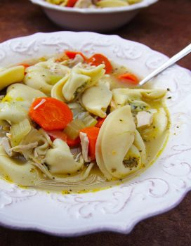 Easy Italian Chicken Tortelloni Soup