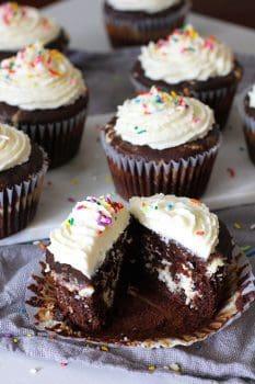 Jumbo Chocolate Birthday Cupcakes