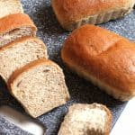Whole Wheat Honey Bread -- a healthy, nutty tasting bread, perfect for toasting! | suebeehomemaker.com