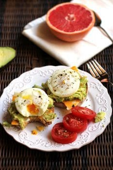 Poached Egg Avocado Muffins