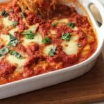 Spaghetti Squash Sausage Lasagna -- a delicious spin on lasagna, spaghetti squash instead of noodles, and a light roux! | suebeehomemaker.com
