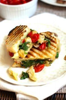 Roasted Vegetable Pesto Panini