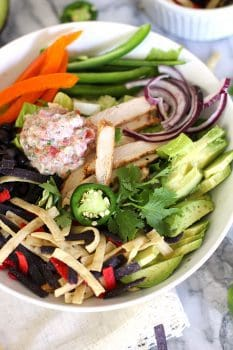 Chicken Fajita Salad with Fresh Salsa Dressing