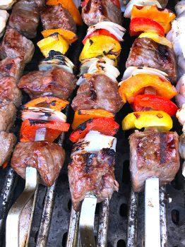 Beef Vegetable Shish Kabobs
