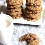 Oatmeal Chocolate Chip Cookies are the perfect thick and chewy cookies. Loaded with oatmeal and chocolate chips, you will definitely want more than one! | suebeehomemaker.com