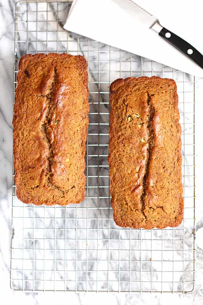 Honey Cinnamon Zucchini Bread uses zucchini to moisten a honey cinnamon flavored bread - to make the most interesting and delicious quick bread! | suebeehomemaker.com