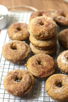 Baked Pumpkin Donuts with Cinnamon Sugar Topping