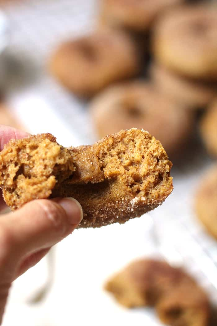 Fall is around the corner, so it's time to make some Baked Pumpkin Donuts! Adding the cinnamon sugar topping makes these the perfect pumpkin treat! | suebeehomemaker.com