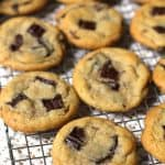Dark Chocolate Chunk Cookies are the perfect soft and chewy cookie, using chopped dark chocolate and a secret ingredient - cornstarch! | suebeehomemaker.com