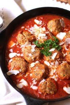 Italian Turkey Zucchini Meatballs