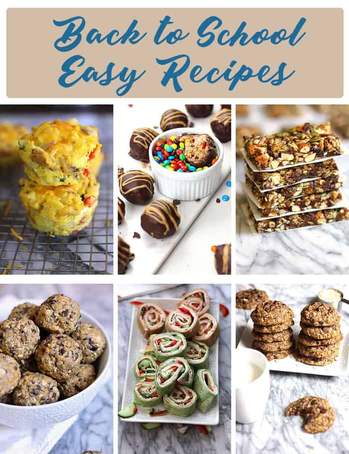 These six easy recipes are perfect for back to school. Simple to make, filling, and relatively healthy - kids and teachers will all simply love them! | suebeehomemaker.com