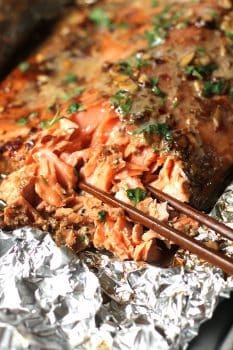 Baked Asian Salmon in Foil