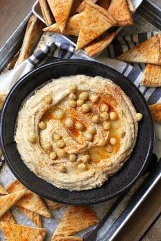 Homemade Hummus and Pita Chips