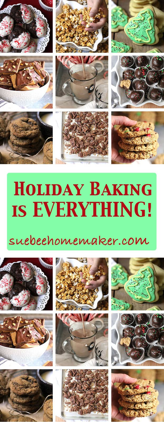 I love to pack my freezer full of Holiday Treats so I'm prepared for family and friends. These can all be prepared in advance and frozen!   suebeehomemaker.com