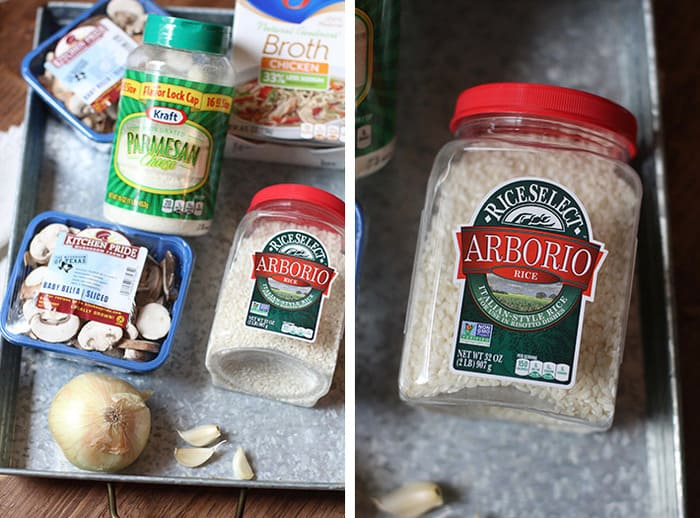 My simple seven ingredient Creamy Mushroom Risotto is gonna shock all you rice lovers out there. (ME!) The Arborio rice is a key component, but the process is equally important. So creamy and delicious! | suebeehomemaker.com