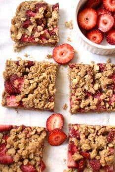 Strawberry Walnut Breakfast Bars
