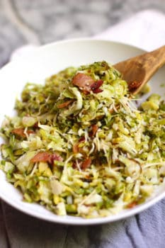 Easy Roasted Brussels Sprouts with Bacon
