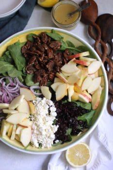 Candied Pecan and Apple Holiday Salad