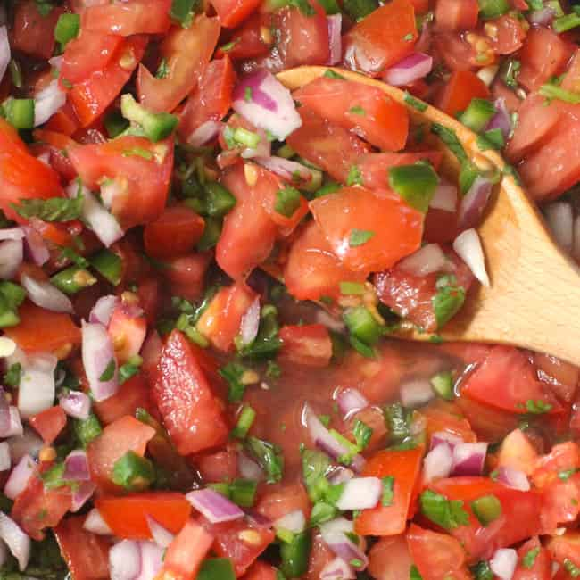 Close up shot of Pico de Gallo.
