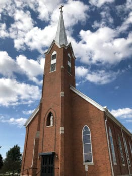 St. Joseph's Catholic Church, in St. Joe, Iowa.