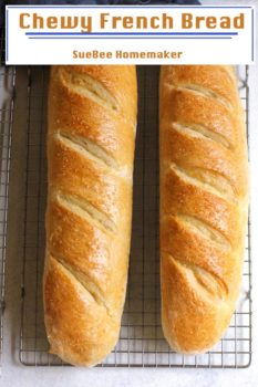 Chewy French Bread - SueBee Homemaker