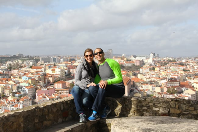 Sue and Mike in Lisbon, Portugal in 2015.