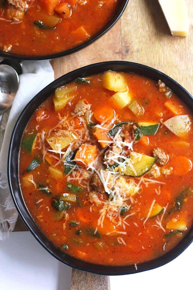 Italian Sausage Soup with Vegetables