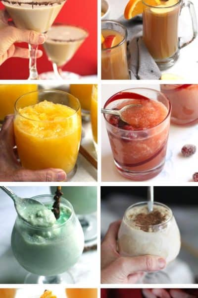A round-up of eight of my BEST Cocktails for holiday parties.