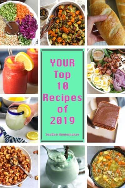 A collage of your top 10 recipes of 2019.