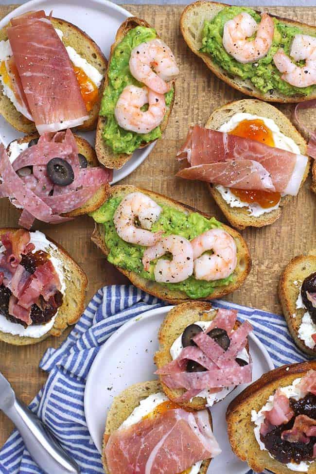 Crostini Appetizers – 4 Ways
