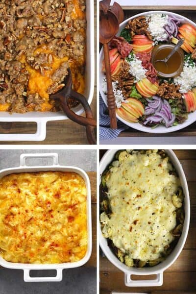 Collage of four best Thanksgiving side dishes.