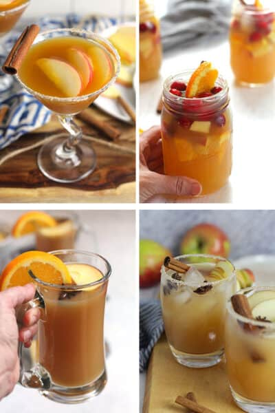 Four apple cider cocktails for enjoying.