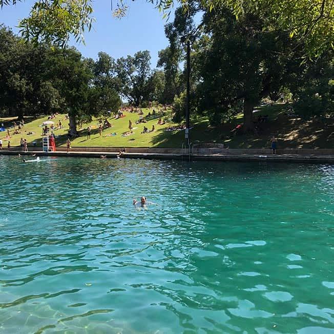 Me swimming in Barton Creek.