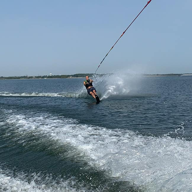 Mike water-skiing in Oklahoma.