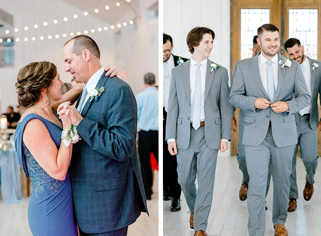 Collage of Mike and I dancing, and Josh and Zach walking.