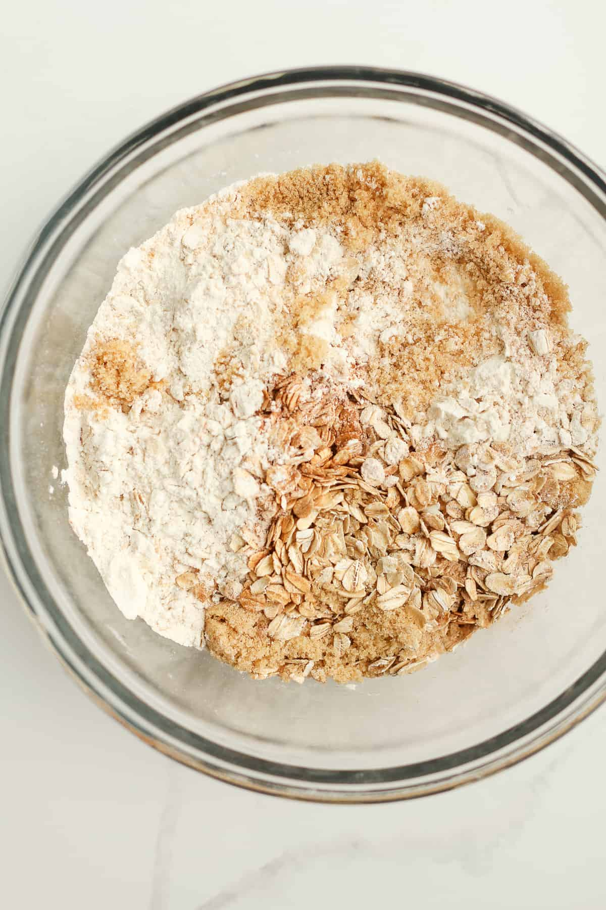 A bowl of the dry ingredients.