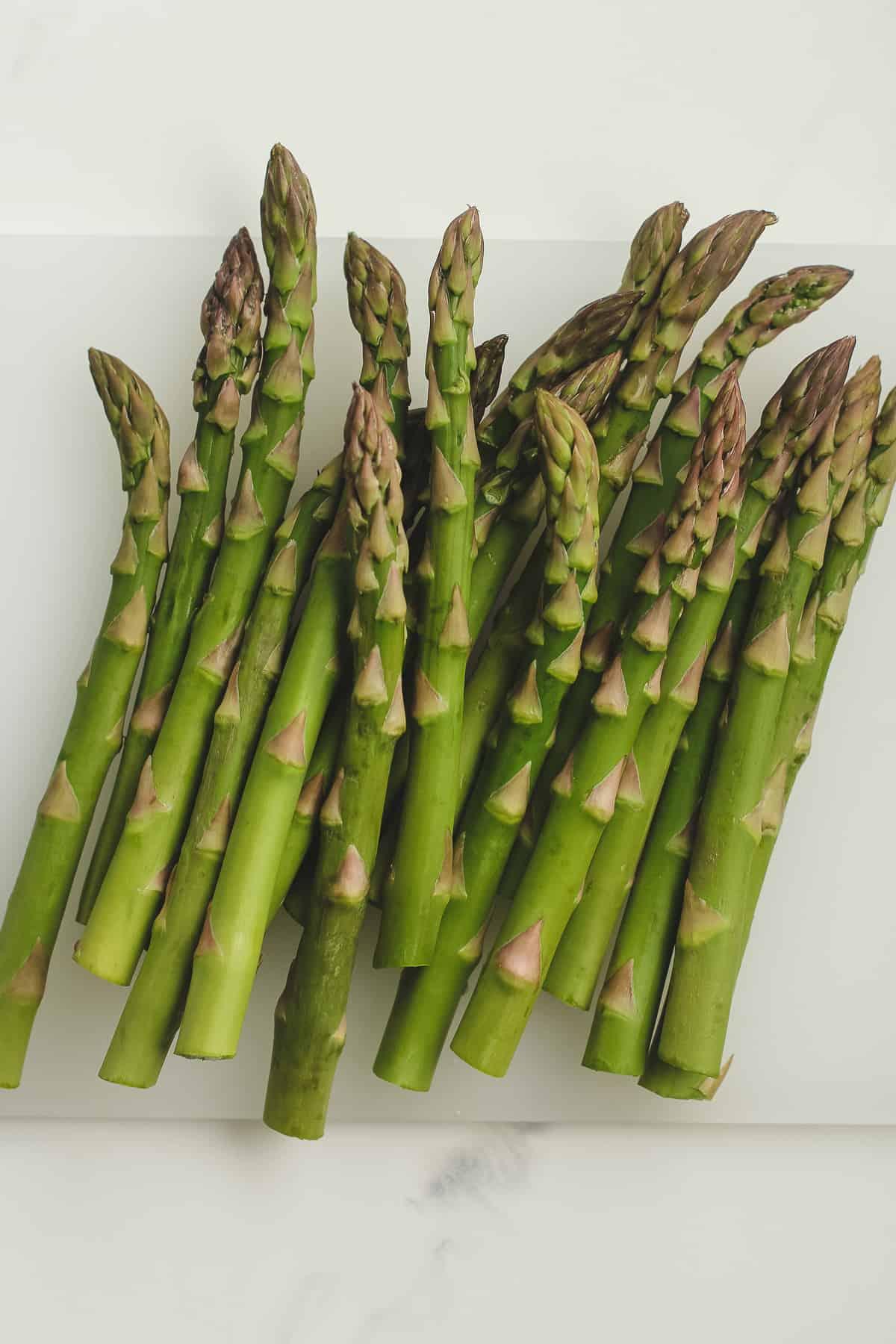 Fresh asparagus stalks.