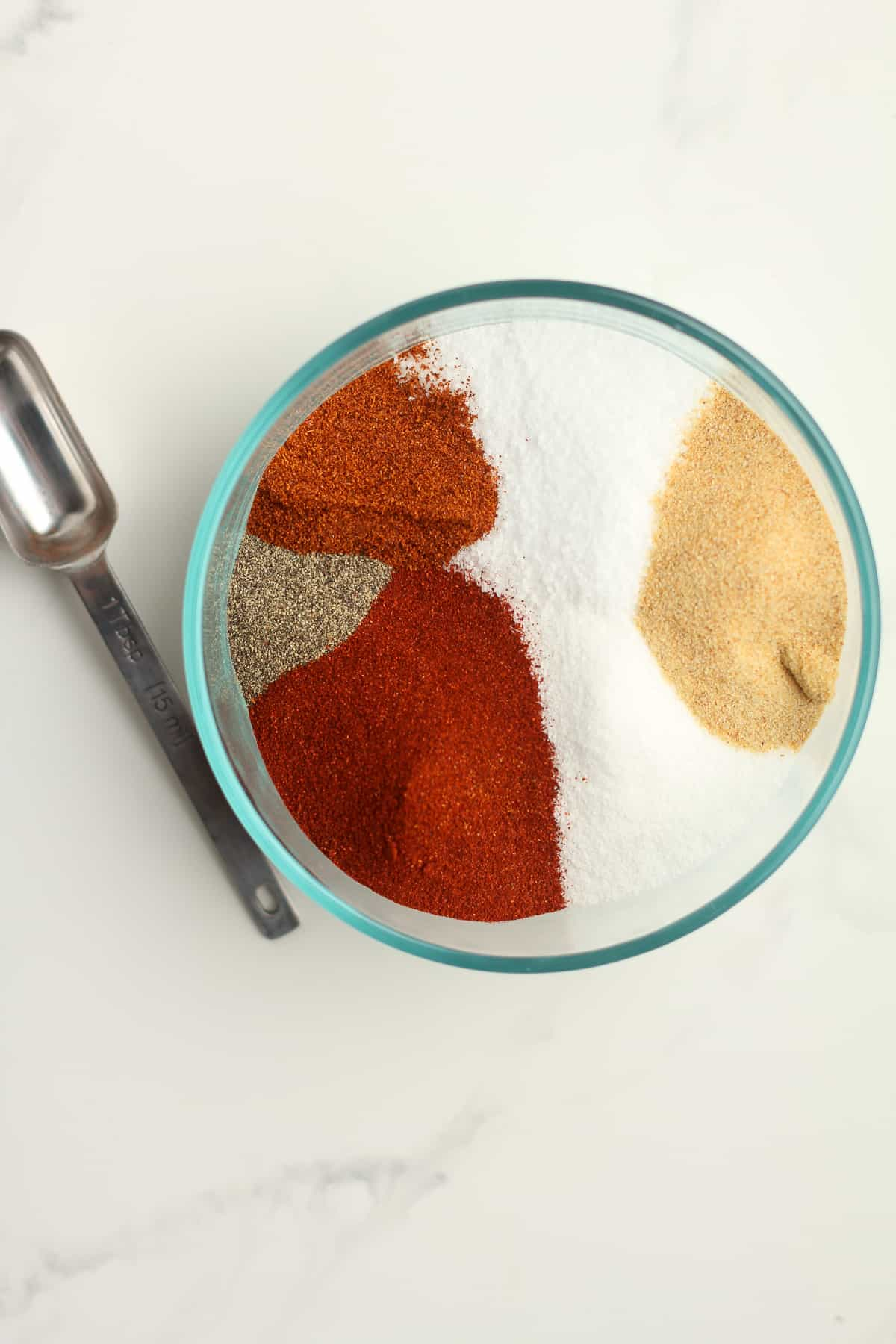 A bowl of the spice rub.