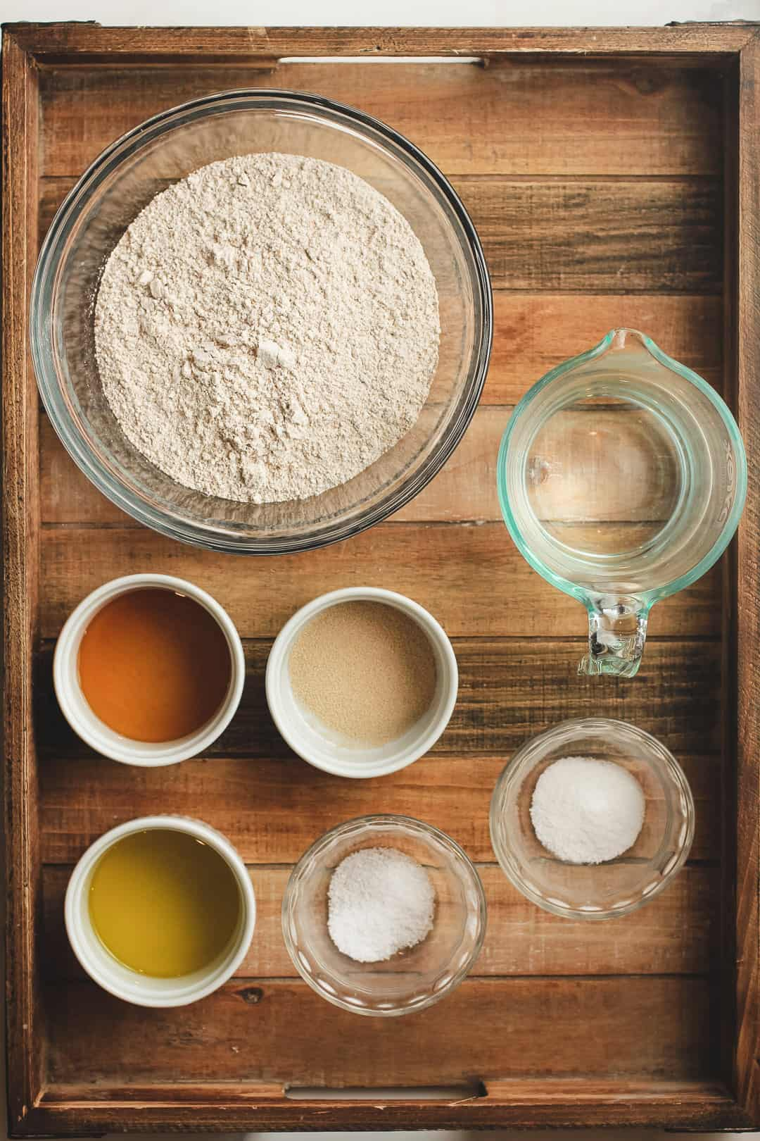 A tray of the recipe ingredients.