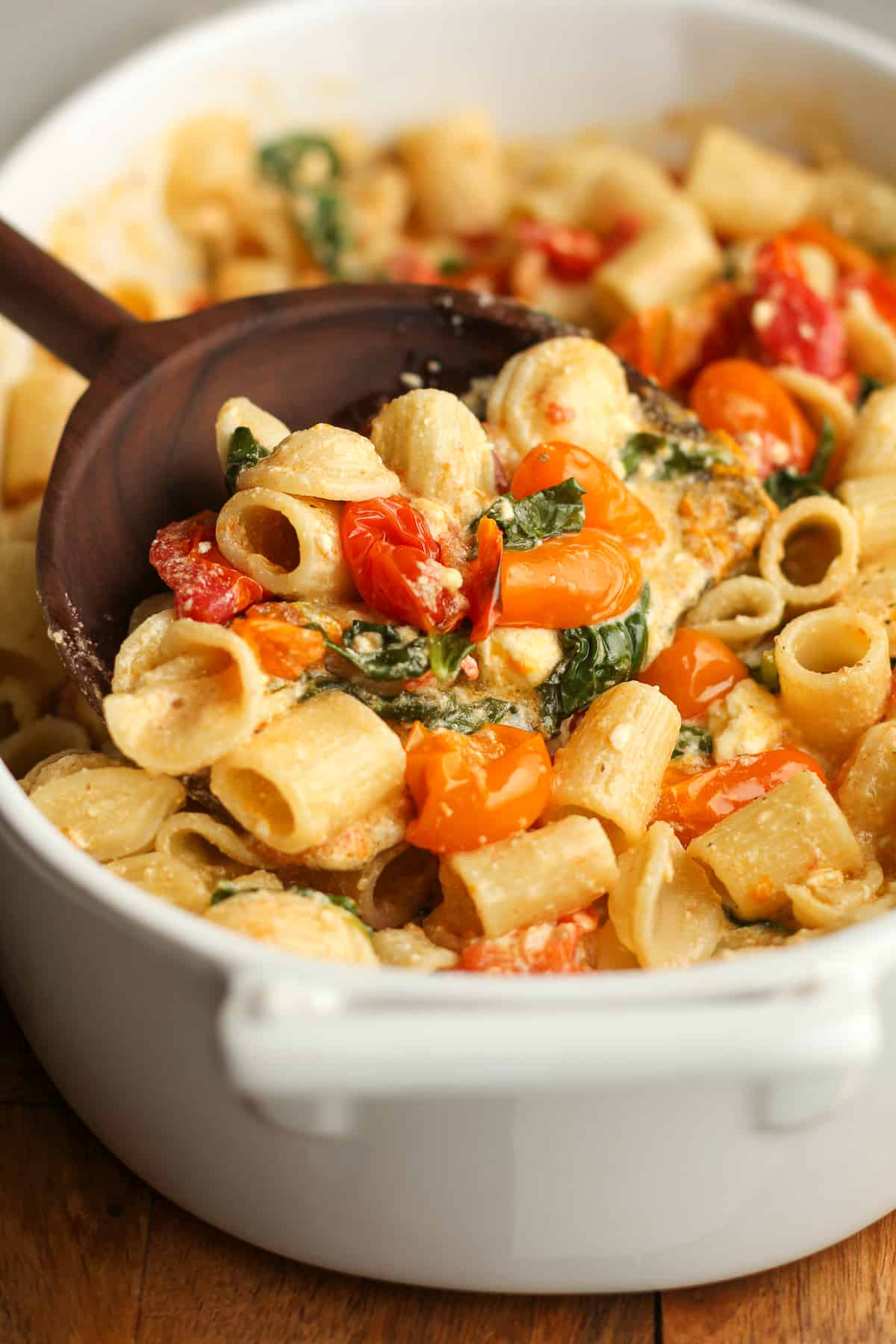 Baked Feta Pasta with Spinach