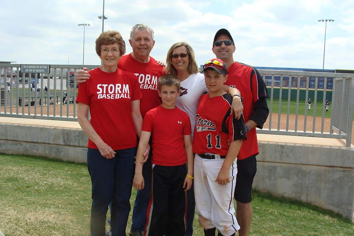 Our family at Storm game.