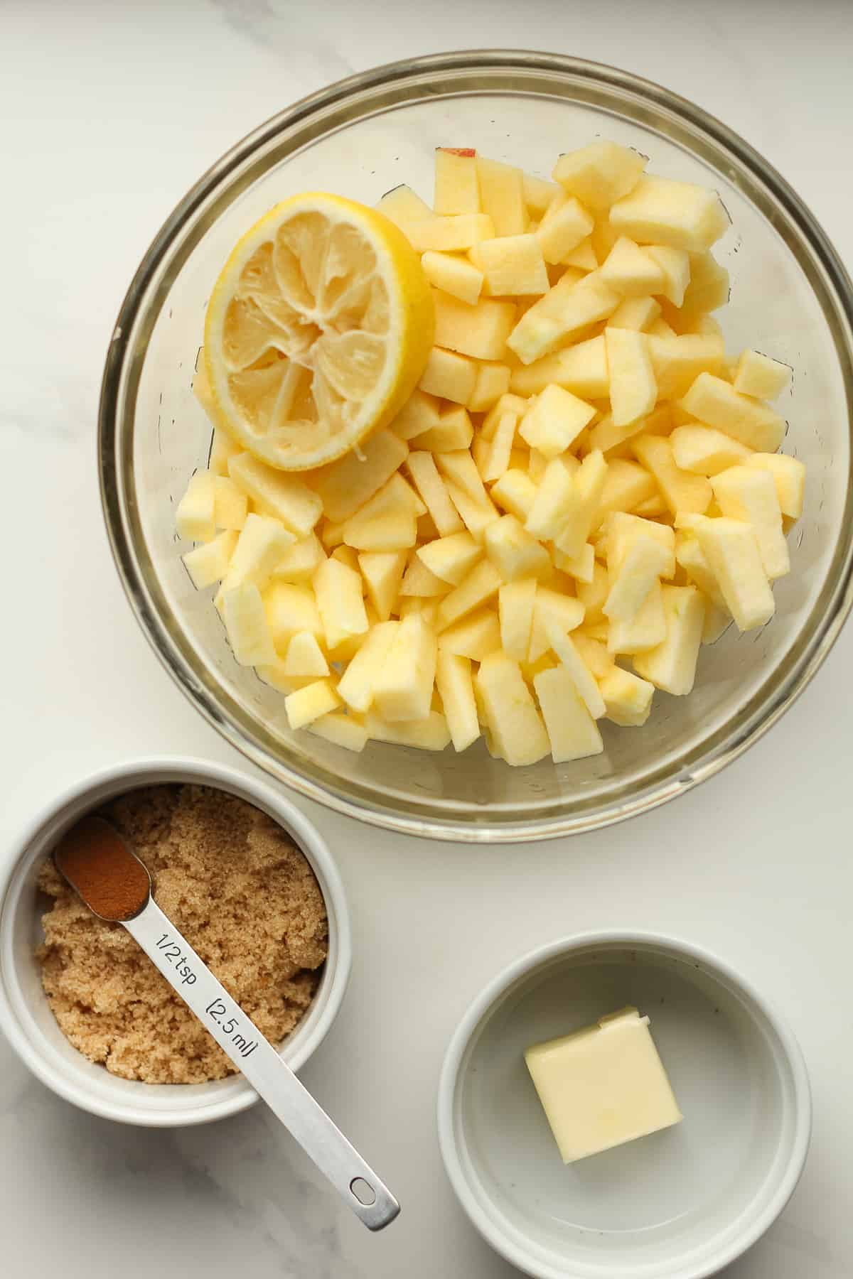 The apple layer ingredients.