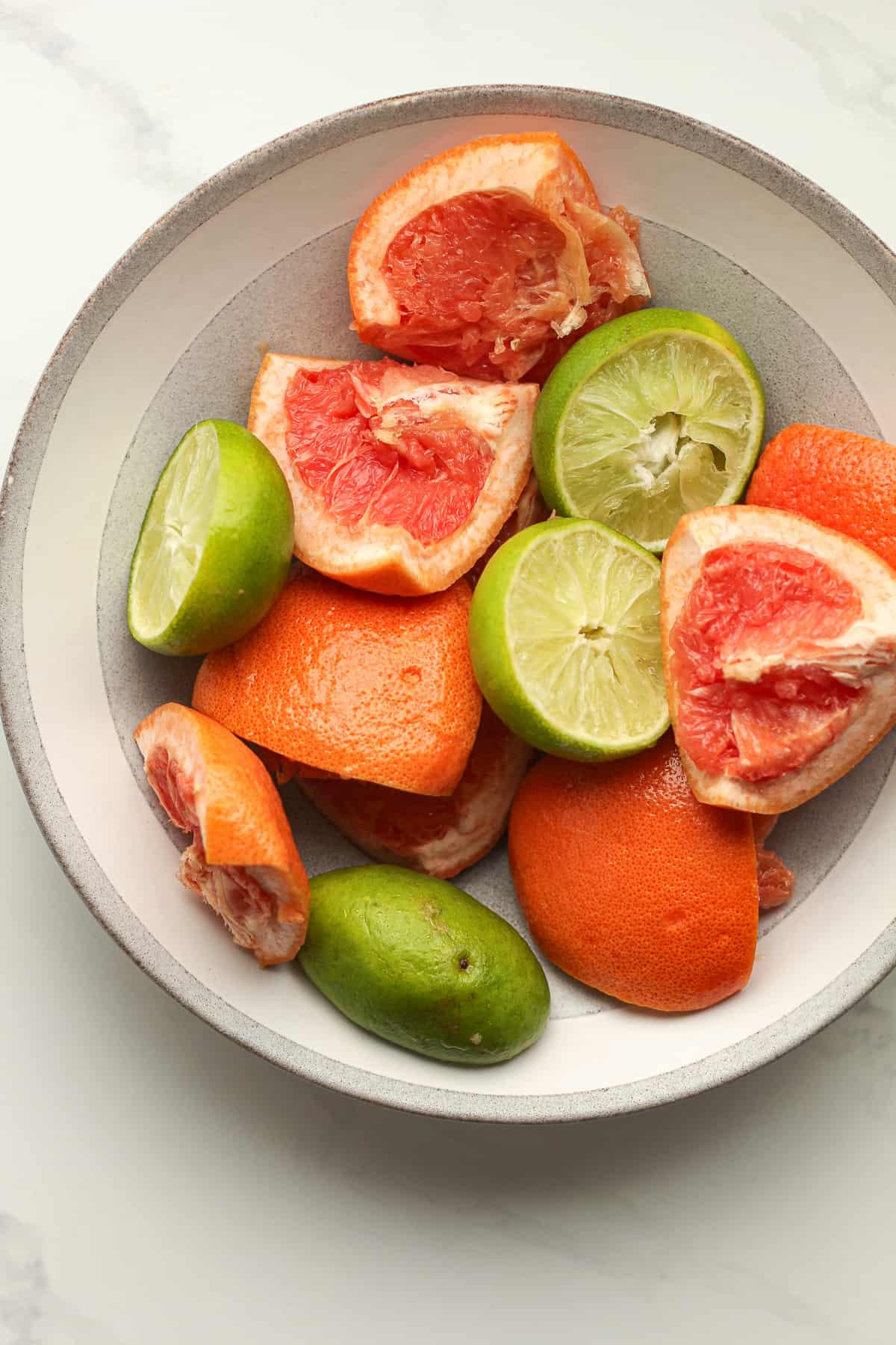 A bowl of fruit chunks.
