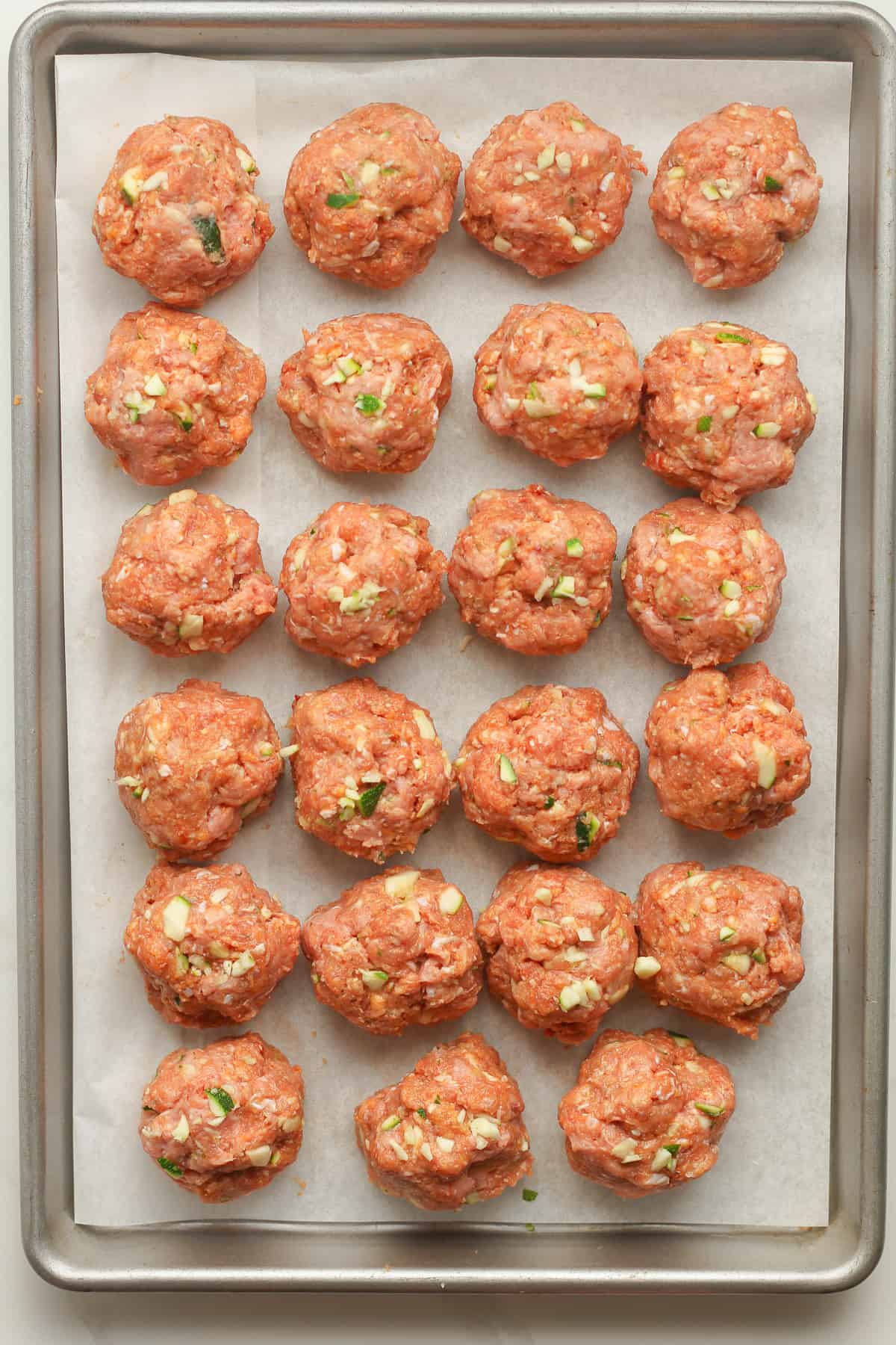 The raw meatballs.