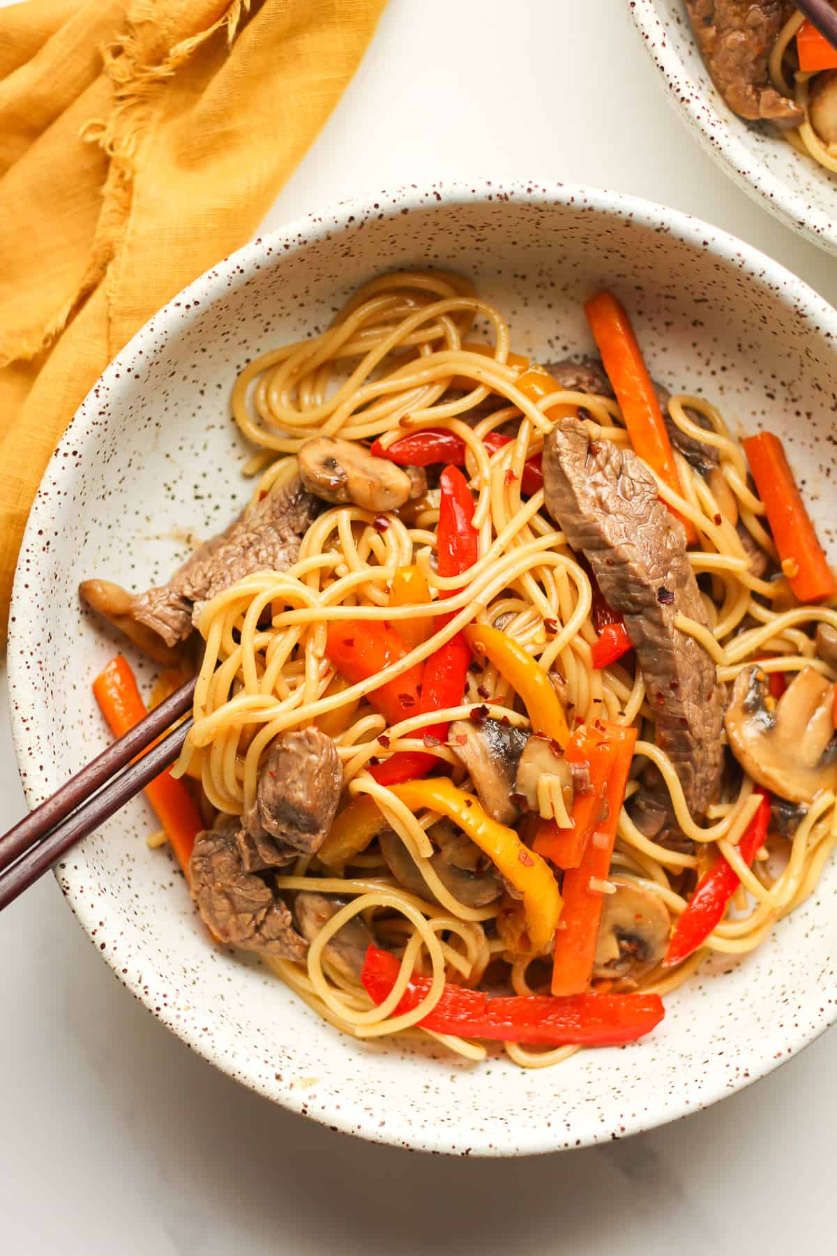 Thai Beef Noodle Stir Fry