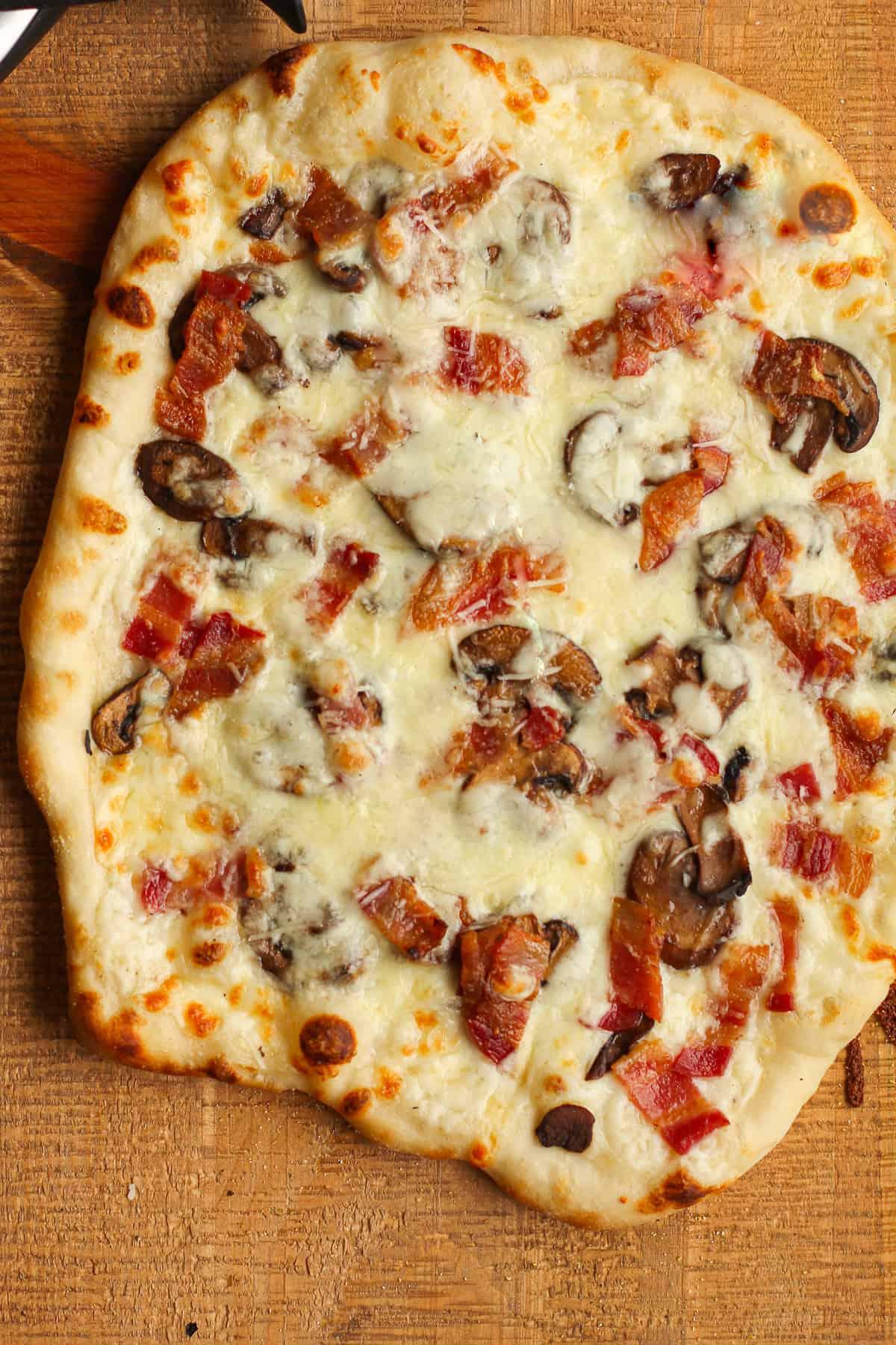White Sauce Pizza Recipe